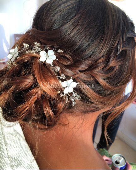 Peinado novia para francisca