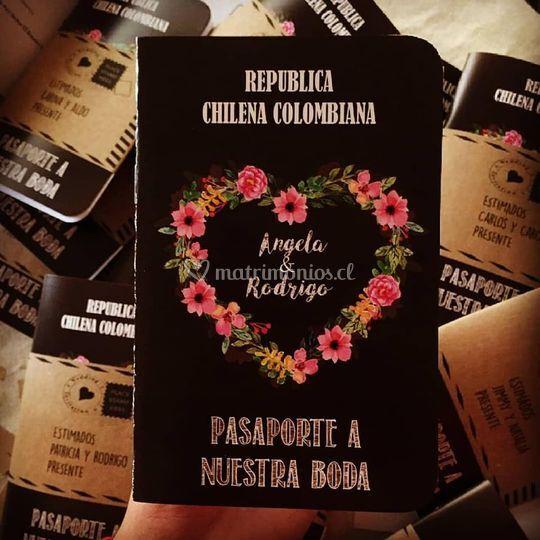 Nuevo diseño pasaporte boda