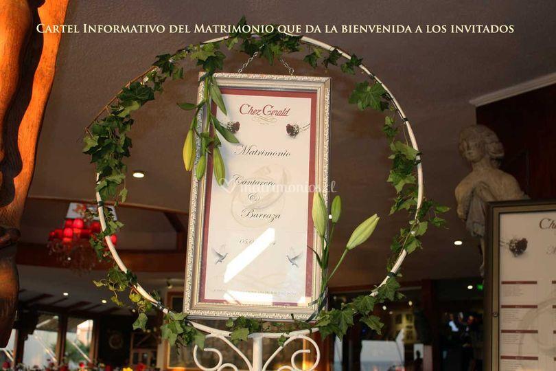 Letrero del matrimonio