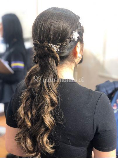 Peinado novia playera