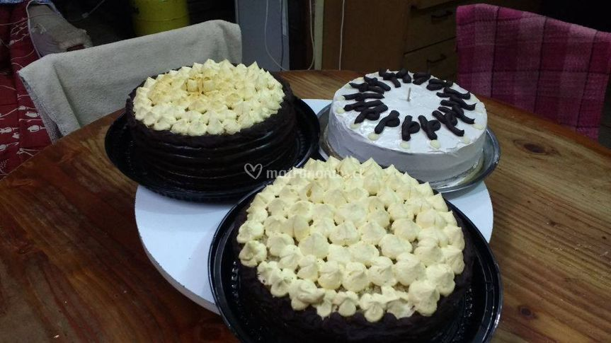 Diferentes sabores de tortas