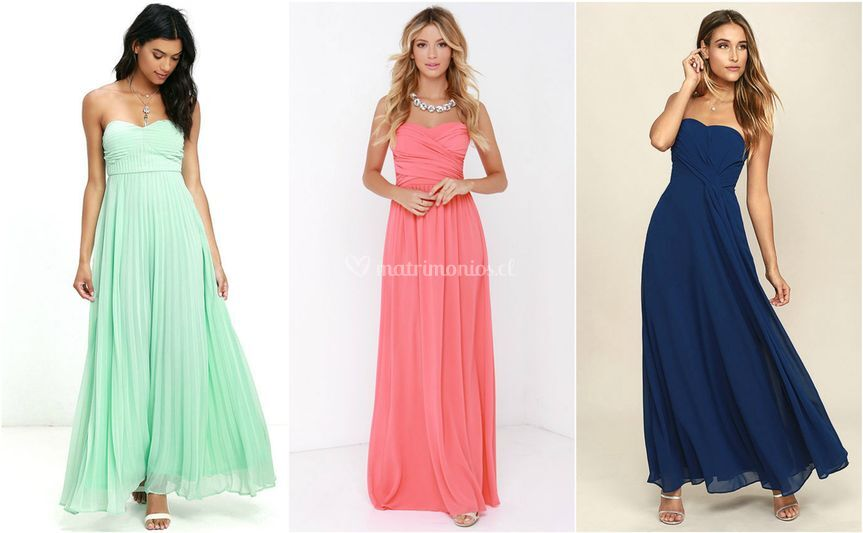 Colores, modelos strapless