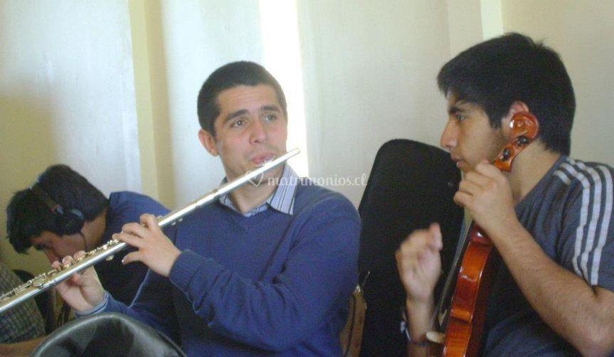 Flauta y Violín, bajos