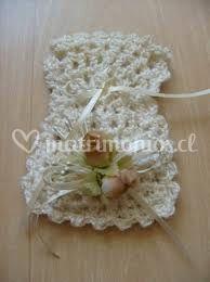 Bolsita blanca crochet