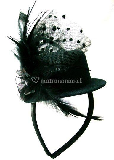 Mini Top Hat negro