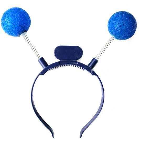 Cintillo luminoso pelotas azul