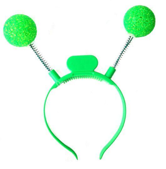Cintillo luminoso pelotas verde