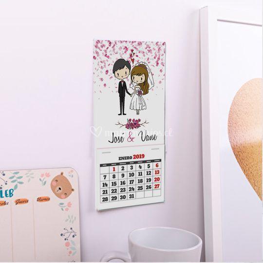 Mini calendarios imantados