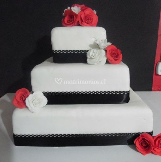 Torta 3 nieves rosas
