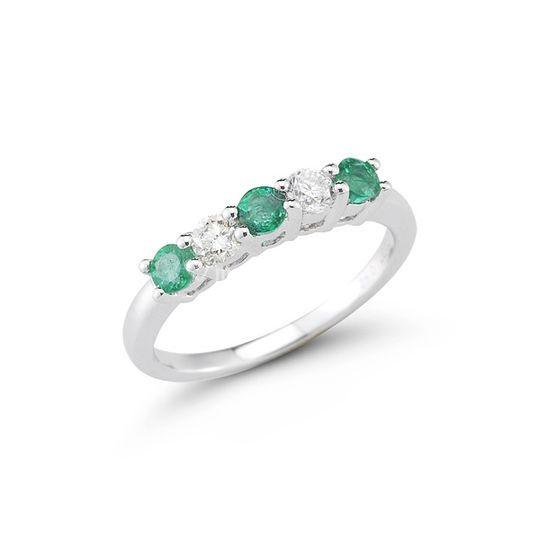 Diamantes-esmeral-oro blanco