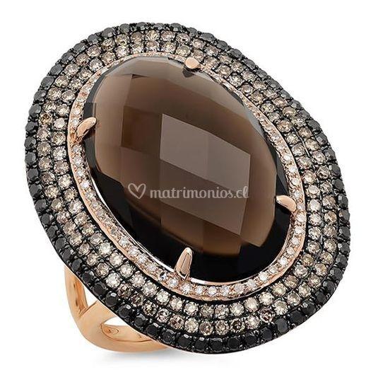 Oro rosa con diamantes