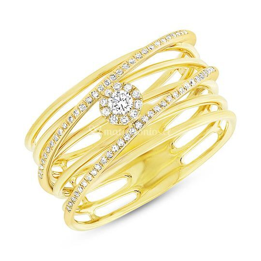 Diamantes-oro amarillo