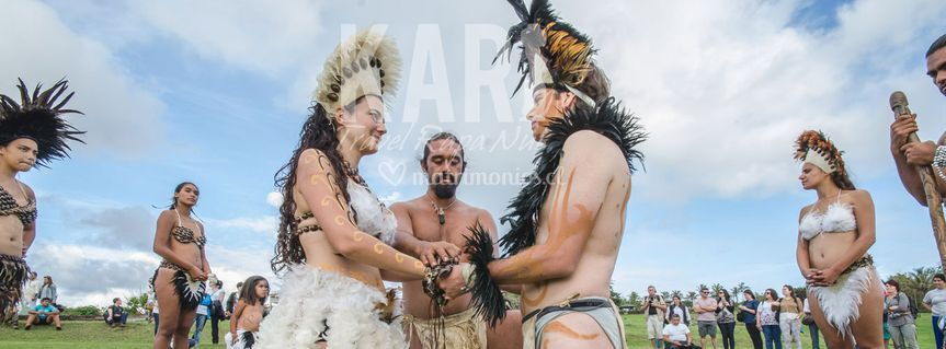 Boda ancestral rapa nui