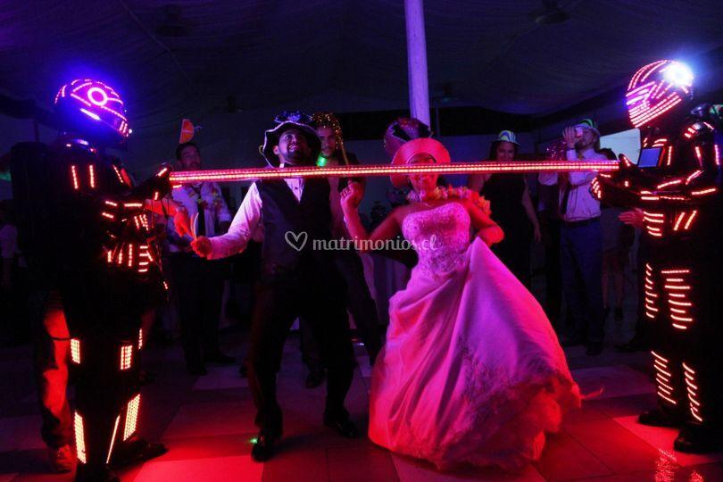 Baile del limbo led