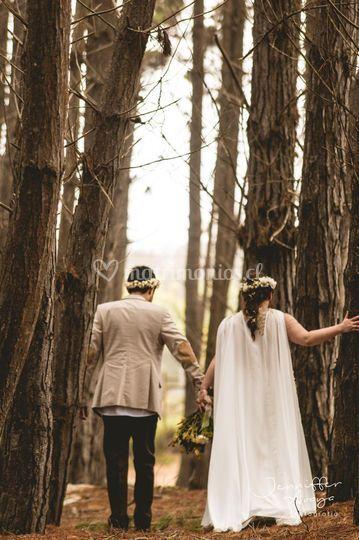 Ceremonia en el bosque