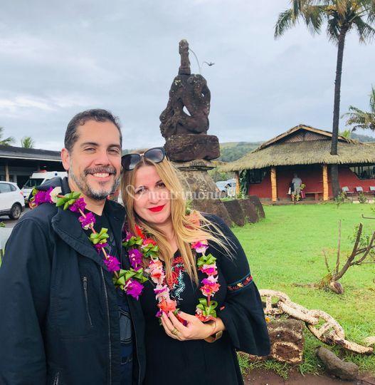 Llegando a Isla de Pascua