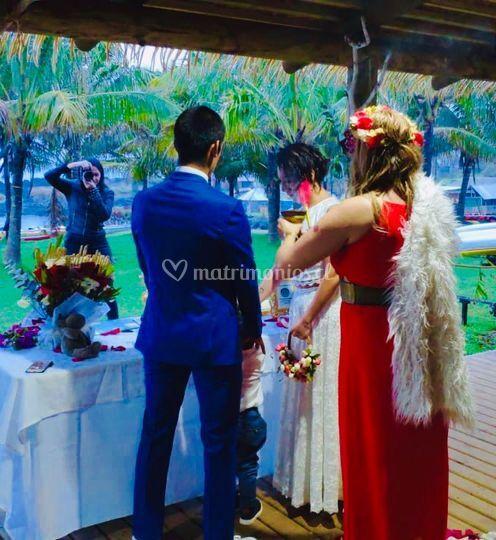Ceremonia en Isla de Pascua