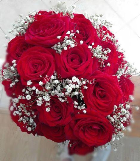 Centro de mesa rosas