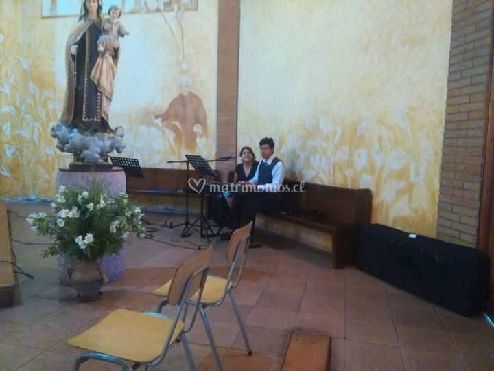 Nube musical en capilla cotto