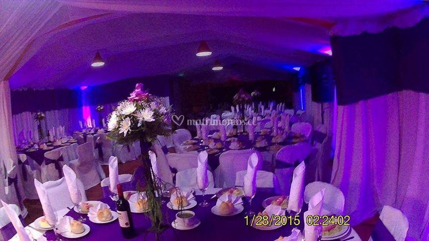 Matrimonio en colores morados