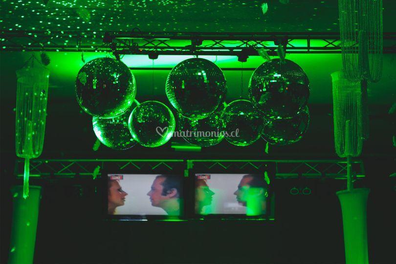 Racimo de bolas espejos