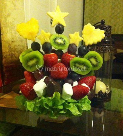 Centro de mesa frutal