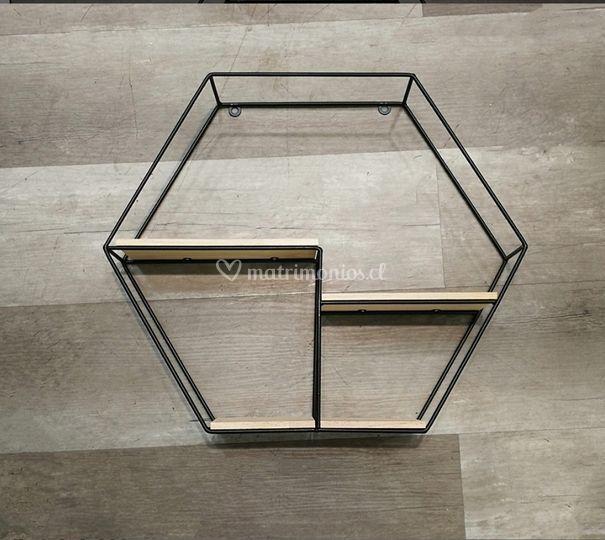 Repisa hexagonal