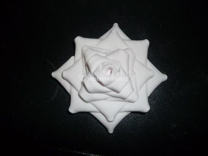 Flor de tela para novia