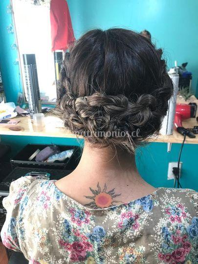 Peinado recogido roma