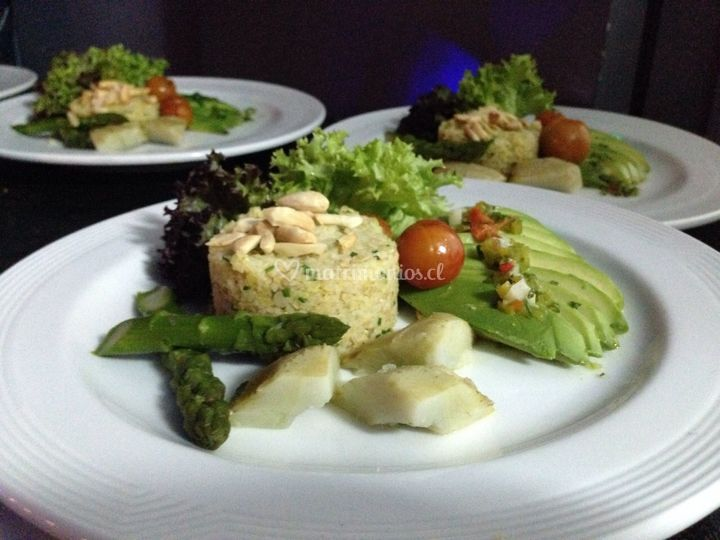Timbal de quinoa y palta