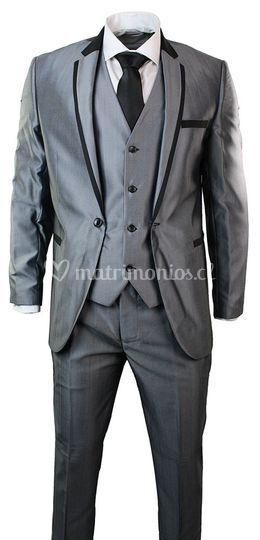 Bicolor gris-negro 2p