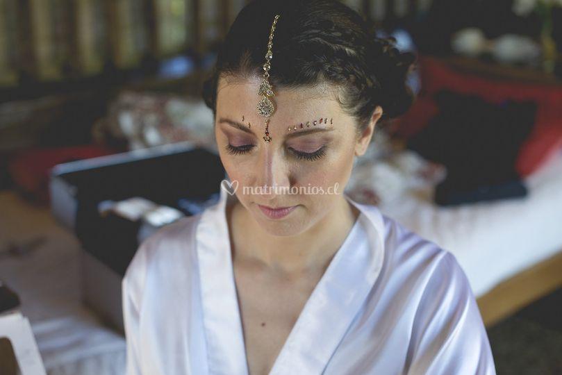 Preparación de novia