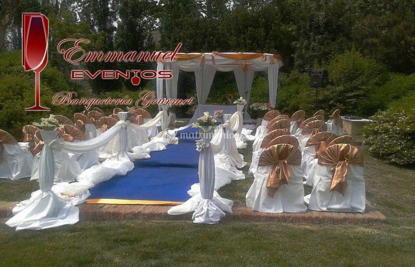 Pagoda para la ceremonia