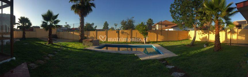 Panoramica de nuestro patio