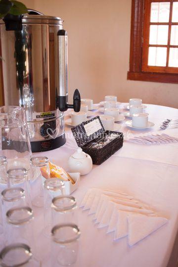 Mesa para coffeebreak