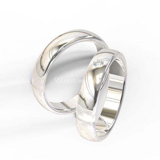 Brilho 18k blanco y diamante