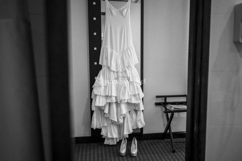 Vestido en hotel