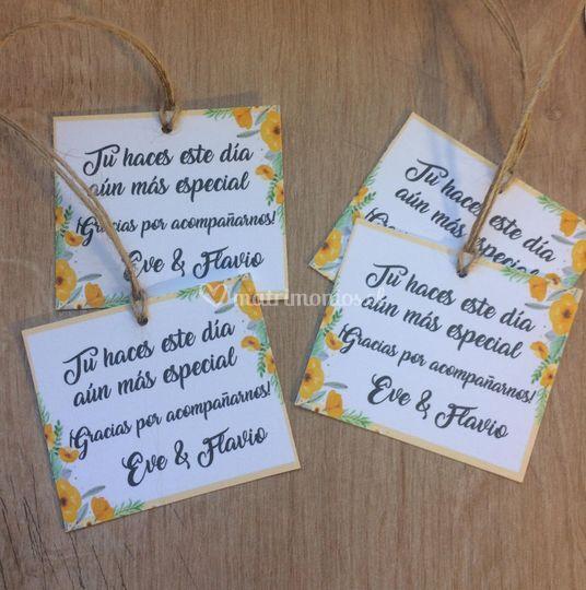 Etiquetas para servilletas