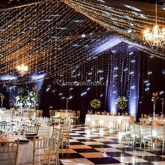 Luces y decoración de salón