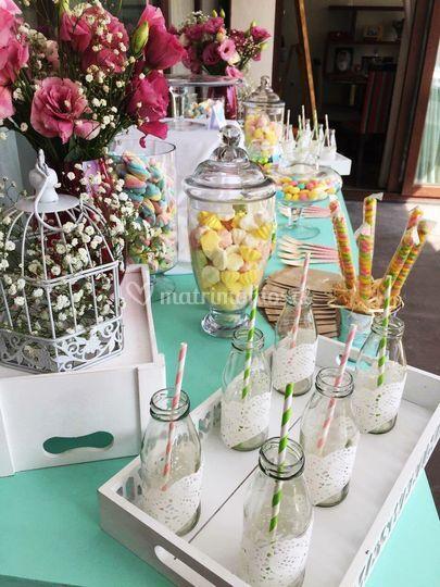 Candy bar y decoración