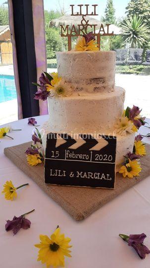 Naked cake con detalles