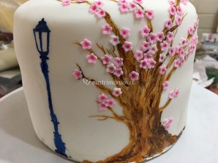 TortaLienzo y decoraciones