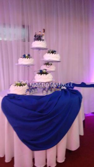 Mesa torta novios