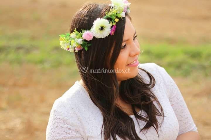 Corona de flores Andrea