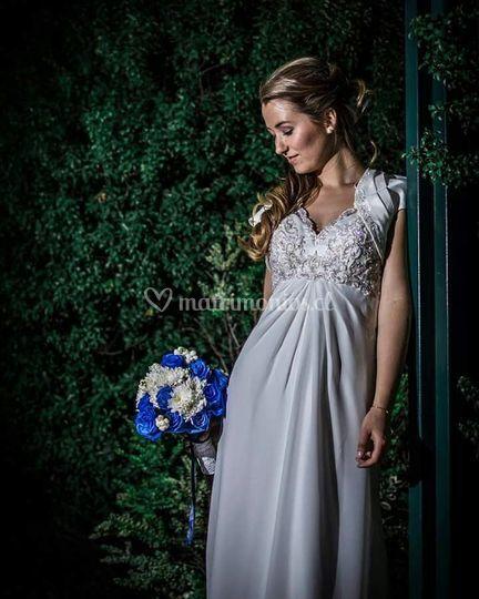 Ramo de rosas azul