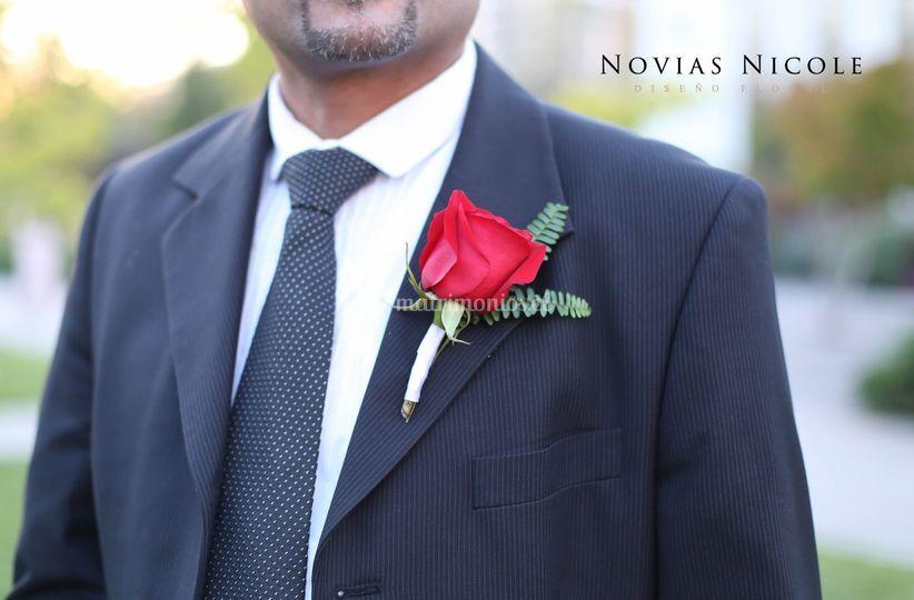 Botonera rosa roja