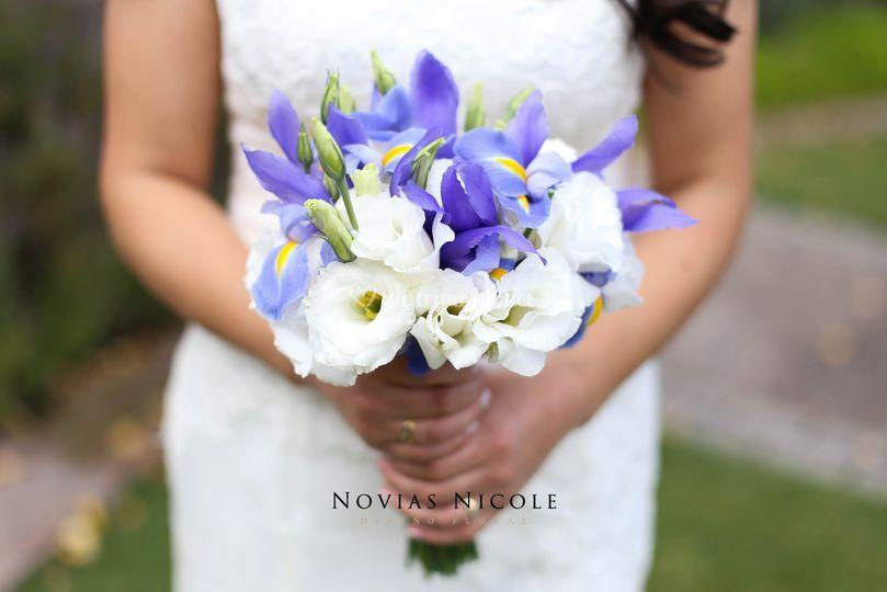 Ramo iris y lisianthus