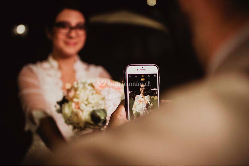 Felicidad de la novia