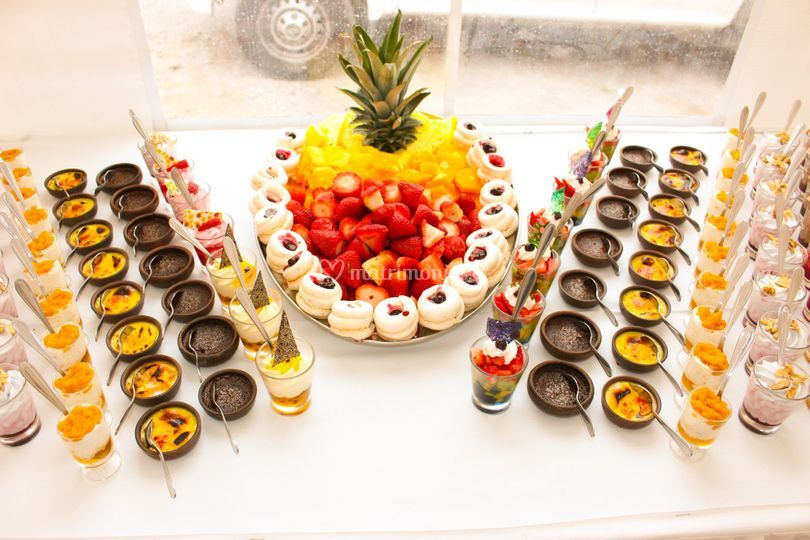 Buffet mini postre