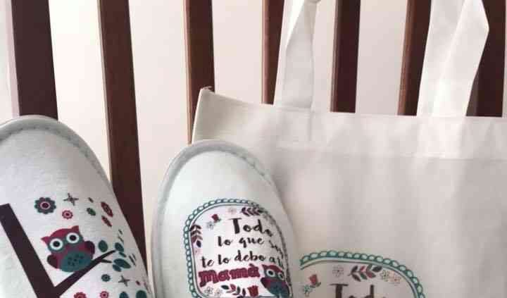 Pantuflas, bolsa ecológica, taza
